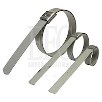 K-Series, 3/8 and 5/8 Inch (in) Band Width Preformed Closed End Clamps