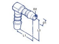 Normaplast® SV Elbow Type Push-On Hose Connectors