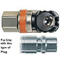 Valve-Free 3/8 Inch (in) DN8 E Series Swing Couplings